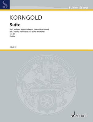 Suite op. 23 -Stimmen KORNGOLD Partition Quatuors - laflutedepan