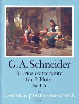 6 Trios Concertants, Vol. 2 Georg Abraham Schneider laflutedepan