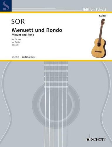 Menuett und Rondo aus Sonate op. 22 - SOR - laflutedepan.com