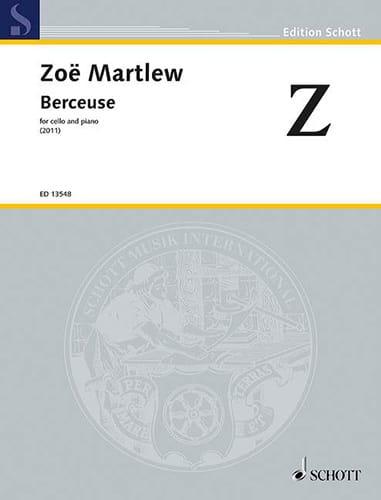Berceuse - Zoë Martlew - Partition - Violoncelle - laflutedepan.com