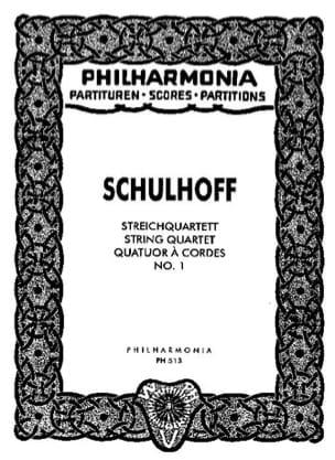 Streichquartett Nr. 1 - Partitur Erwin Schulhoff laflutedepan