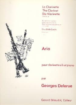 Aria Georges Delerue Partition Clarinette - laflutedepan