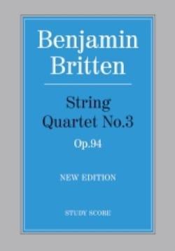 String quartet n° 3 op. 94 - Score BRITTEN Partition laflutedepan