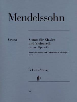 Sonate pour violoncelle en Sib Majeur op. 45 MENDELSSOHN laflutedepan