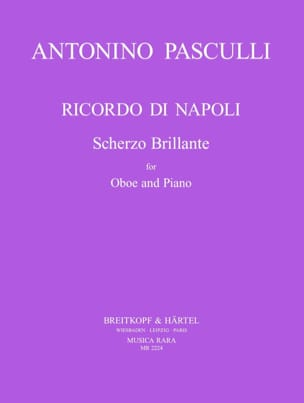 Ricordo di Napoli Antonino Pasculli Partition Hautbois - laflutedepan
