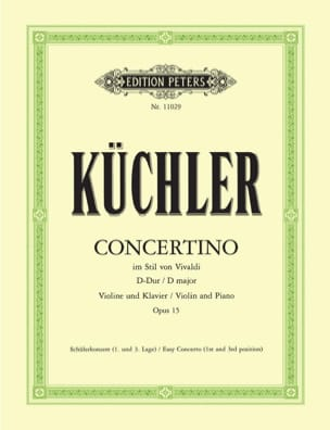 Concertino Op.15 En Ré Maj. Ferdinand Küchler Partition laflutedepan