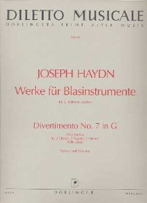 Divertimento Nr. 7 G-Dur -2 Oben 2 Fagotte 2 Hörner - Partitur + Stimmen - laflutedepan.com