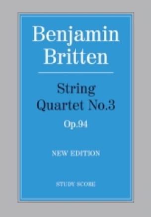 String quartet n° 3 op. 94 - Score - BRITTEN - laflutedepan.com