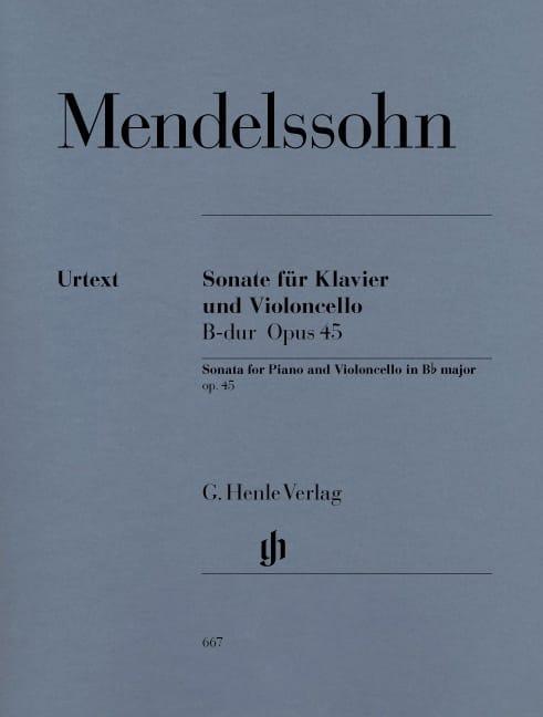 Sonate pour violoncelle en Sib Majeur op. 45 - laflutedepan.com