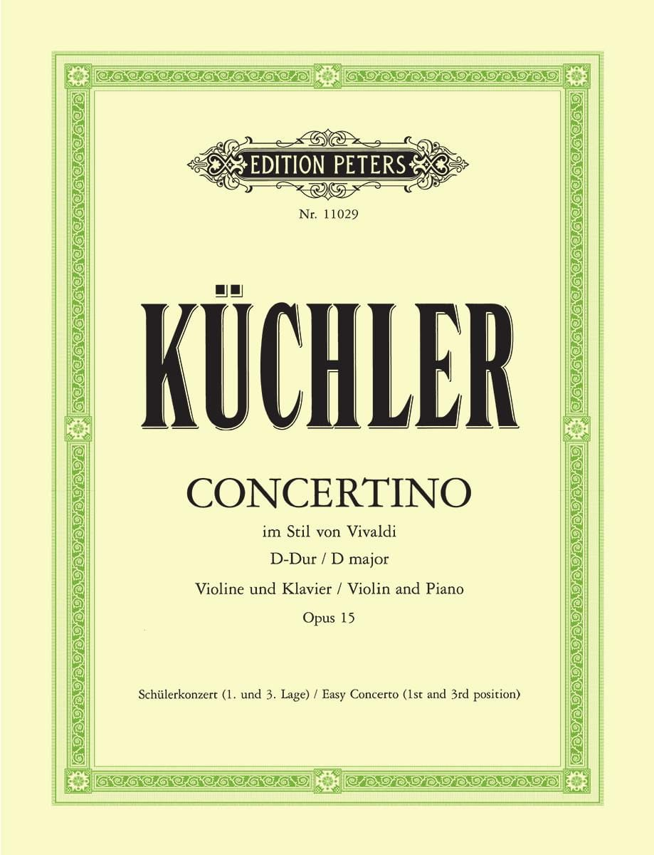 Concertino Op.15 En Ré Maj. - Ferdinand Küchler - laflutedepan.com