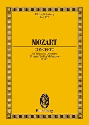 Klavier-Konzert Es-Dur - Kv 482 MOZART Partition laflutedepan
