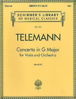 TELEMANN - Concierto en sol mayor - Viola - Partition - di-arezzo.es