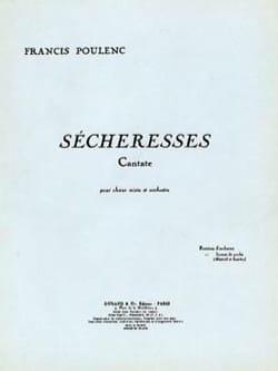 Sécheresses - Conducteur POULENC Partition Petit format - laflutedepan