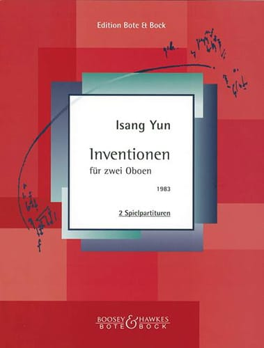 Inventionen - 2 Oboen - Isang Yun - Partition - laflutedepan.com