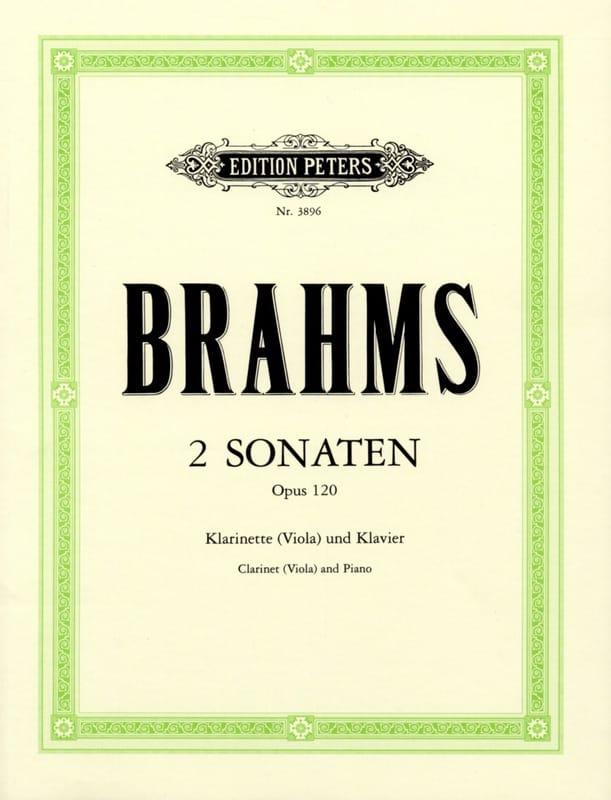 2 Sonates op. 120 - clarinette, ou alto, et piano. - laflutedepan.com