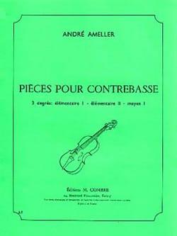 Pieces pour contrebasse 6 pièces André Ameller Partition laflutedepan