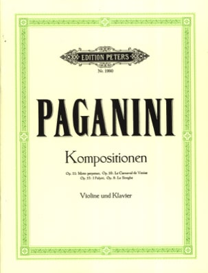Kompositionen op. 11, 10, 13, 8 PAGANINI Partition laflutedepan