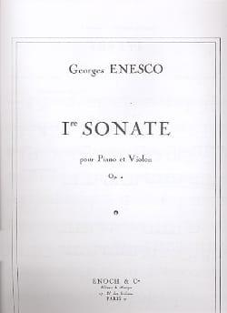Georges Enesco - Violín Sonata No. 1 op. 2 - Partition - di-arezzo.es
