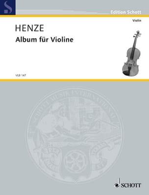 Album Für Violine Hans Werner Henze Partition Violon - laflutedepan