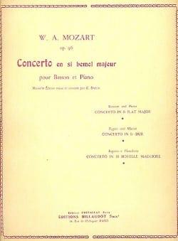 Concerto pour basson en sib majeur op. 96 MOZART laflutedepan