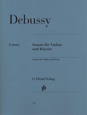 Sonate pour violon et piano DEBUSSY Partition Violon - laflutedepan