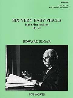 6 Very easy pieces op. 22 -Viola ELGAR Partition Alto - laflutedepan