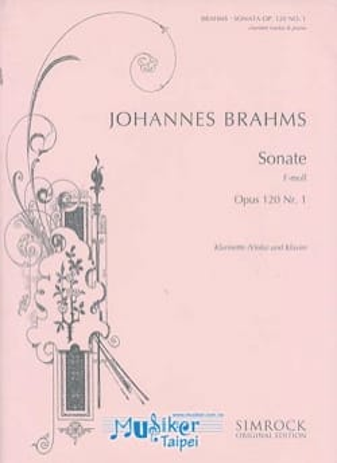 Sonate op. 120 n° 1 en fa mineur BRAHMS Partition laflutedepan