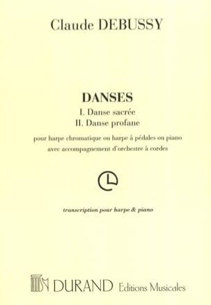 Danses Sacrées et Profanes DEBUSSY Partition Harpe - laflutedepan