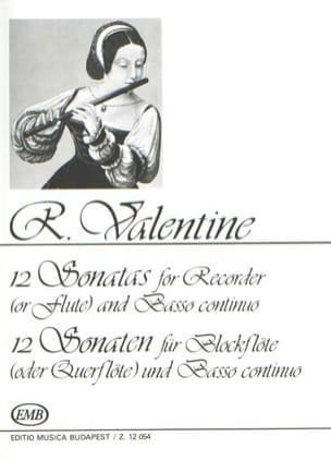 12 Sonaten Robert Valentine Partition Flûte à bec - laflutedepan