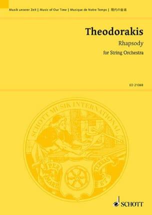 Rhapsody 2009 THEODORAKIS Partition Grand format - laflutedepan