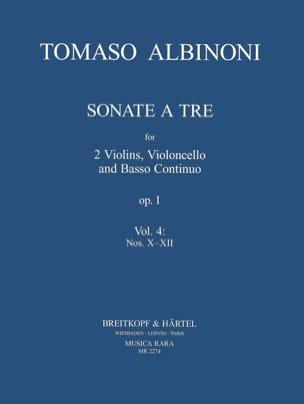 Sonata a tre op. 1 - Volume 4: X-XII ALBINONI Partition laflutedepan