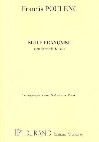 Suite française - Cello piano - POULENC - Partition - laflutedepan.com