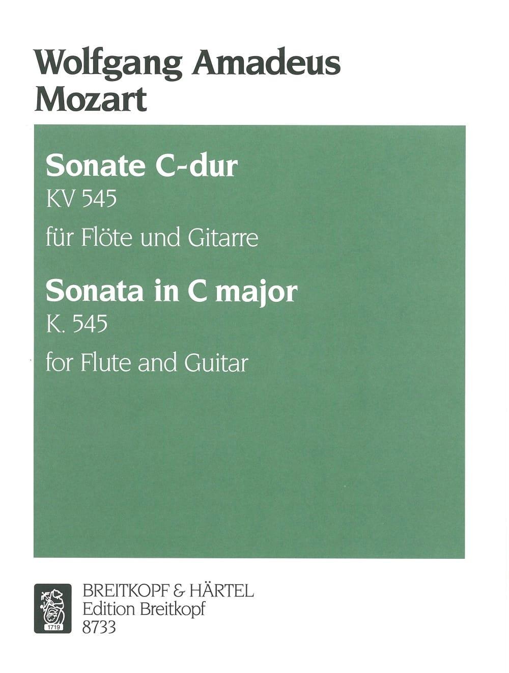Sonate C-Dur KV 545 - Flöte Gitarre - MOZART - laflutedepan.com