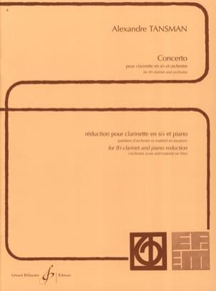 Concerto pour clarinette Alexandre Tansman Partition laflutedepan