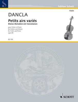 Kleine Melodien mit Variationen op. 89 DANCLA Partition laflutedepan