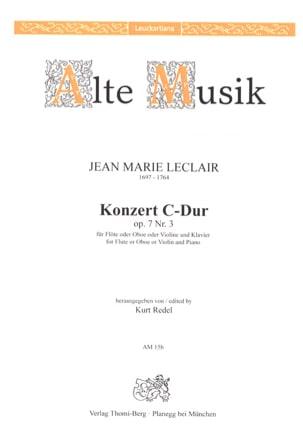 Konzert In C-Dur Op. 7 N° 3 LECLAIR Partition laflutedepan