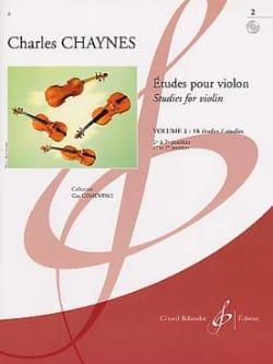 Etudes pour violon, Volume 2 Charles Chaynes Partition laflutedepan