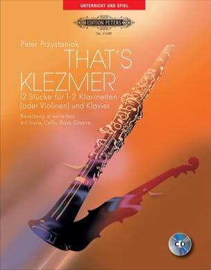 That's Klezmer Peter Przystaniak Partition Clarinette - laflutedepan