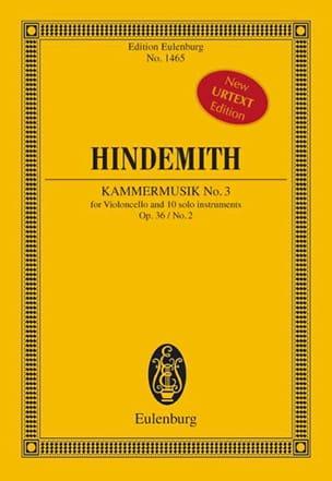 Kammermusik N°3 Op.36 N°2 HINDEMITH Partition laflutedepan