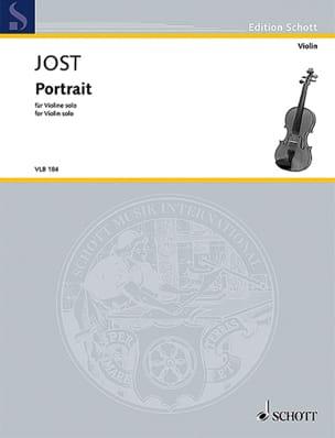 Portrait Christian Jost Partition Violon - laflutedepan
