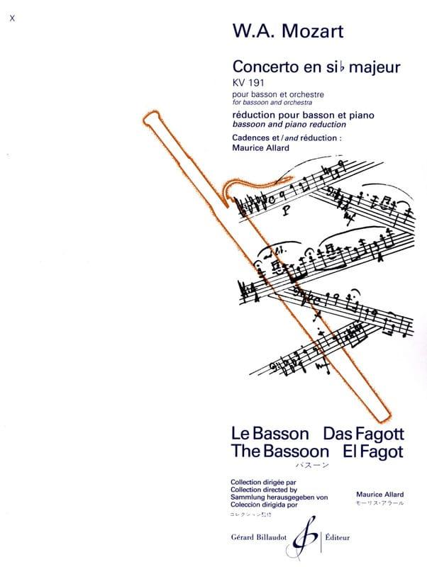 Concerto en Sib Majeur Kv 191 - MOZART - Partition - laflutedepan.com