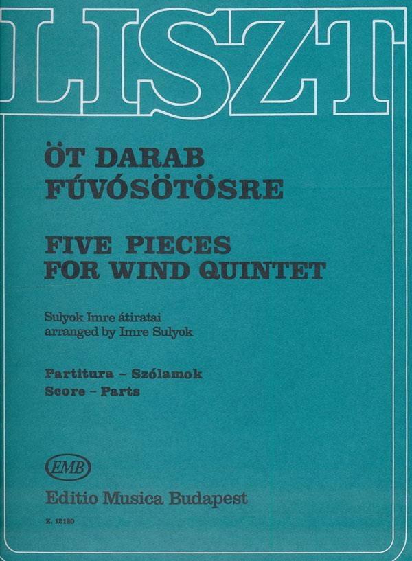 5 Pieces for Wind quintet - LISZT - Partition - laflutedepan.com