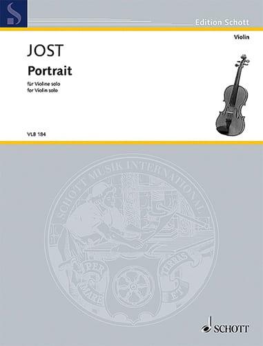 Portrait - Christian Jost - Partition - Violon - laflutedepan.com