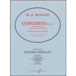 MOZART - Oboe Concerto in C major - KV 314 - Partition - di-arezzo.com