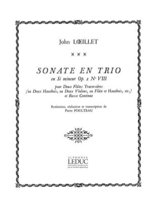 Sonate en trio en si mineur op. 2 n° 8 laflutedepan