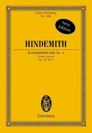 Kammermusik N°4 Op.36 N°3 HINDEMITH Partition laflutedepan