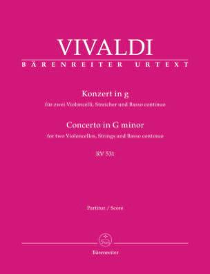 Concerto en sol mineur RV 531 VIVALDI Partition laflutedepan