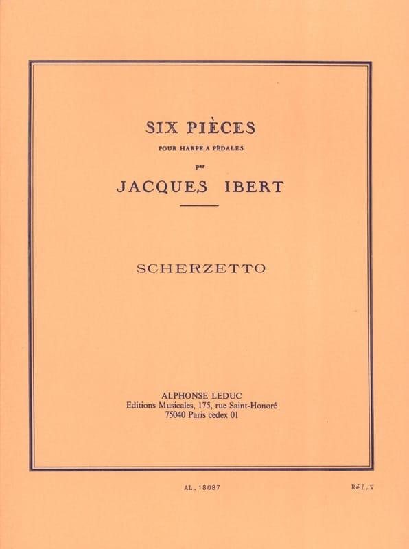 Scherzetto - IBERT - Partition - Harpe - laflutedepan.com