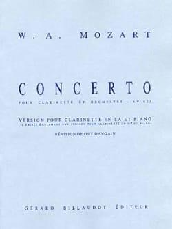 Concerto KV 622 - Clarinette en la MOZART Partition laflutedepan