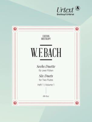 6 Duette, Heft 1 - 2 flutes Wilhelm Friedemann Bach laflutedepan